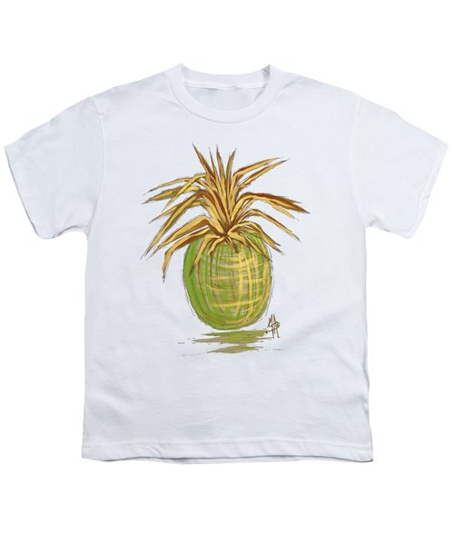 Green Gold Pineapple Painting Illustration Aroon Melane 2015 Collection By Madart Youth T-Shirt