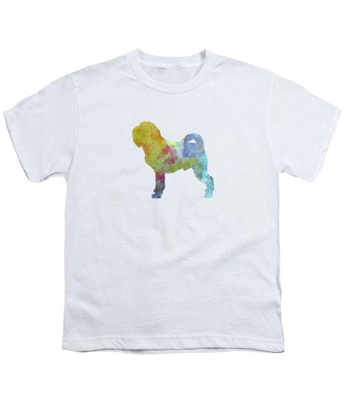 Griffon Belge In Watercolor Youth T-Shirt