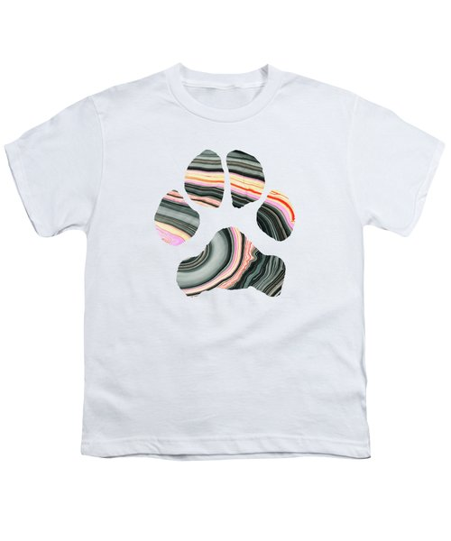 Groovy Dog Paw - Sharon Cummings  Youth T-Shirt by Sharon Cummings