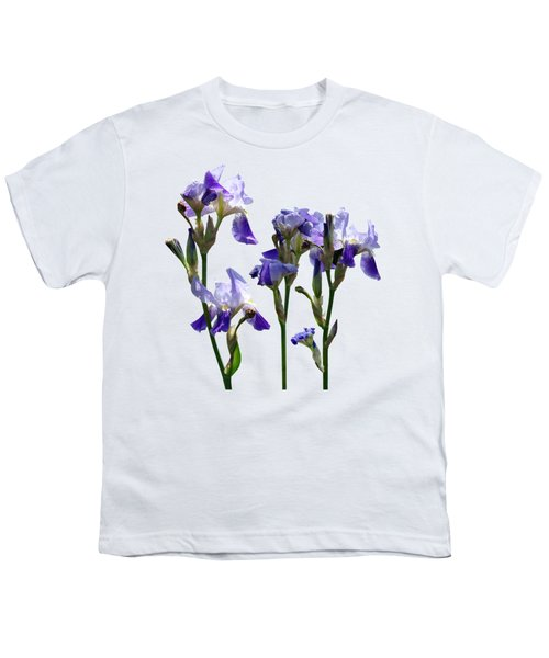Group Of Purple Irises Youth T-Shirt by Susan Savad