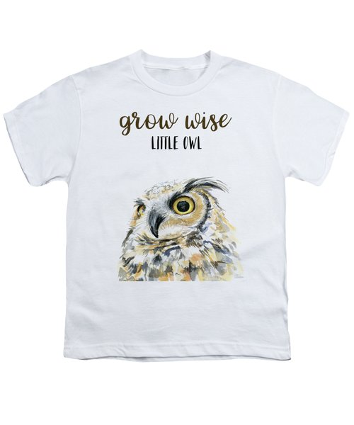 Grow Wise Little Owl Youth T-Shirt