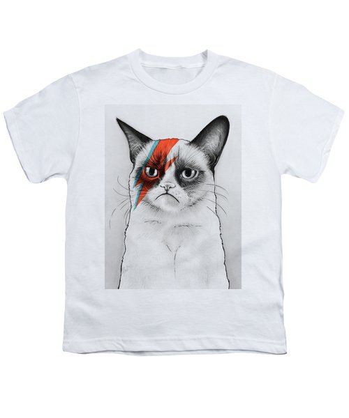 Grumpy Cat Portrait Youth T-Shirt