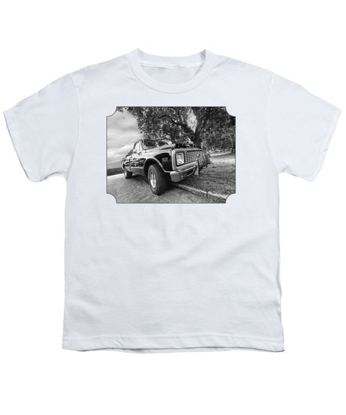 Halcyon Days - 1971 Chevy Pickup Bw Youth T-Shirt