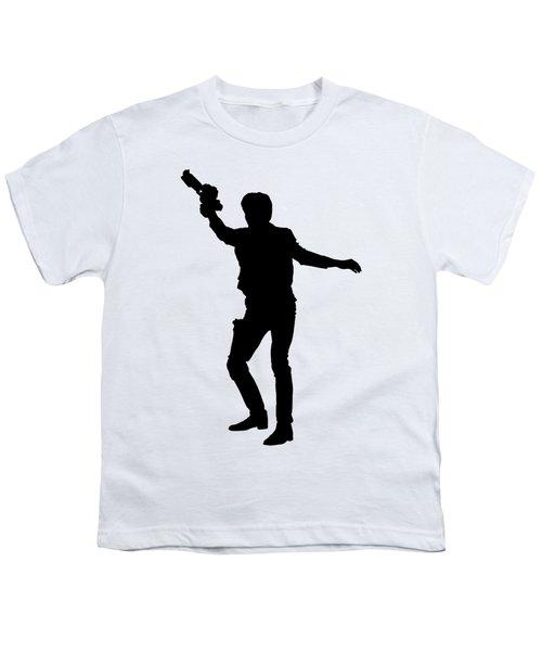 Han Solo Star Wars Tee Youth T-Shirt by Edward Fielding