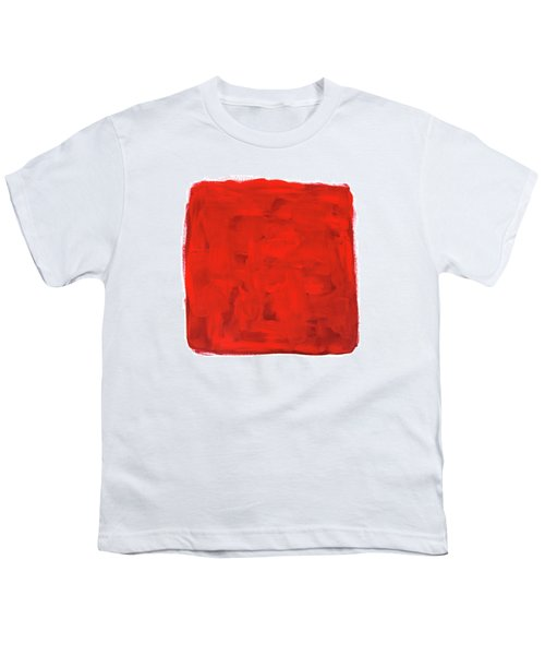 Handmade Vibrant Abstract Oil Painting Youth T-Shirt by GoodMood Art