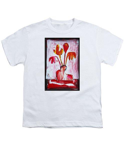 Happy Poppy Youth T-Shirt by DAKRI Sinclair