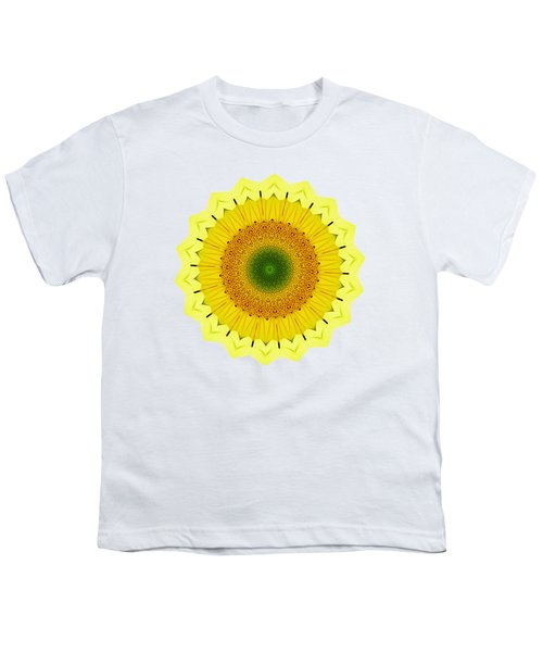 Happy Sunflower Mandala By Kaye Menner Youth T-Shirt