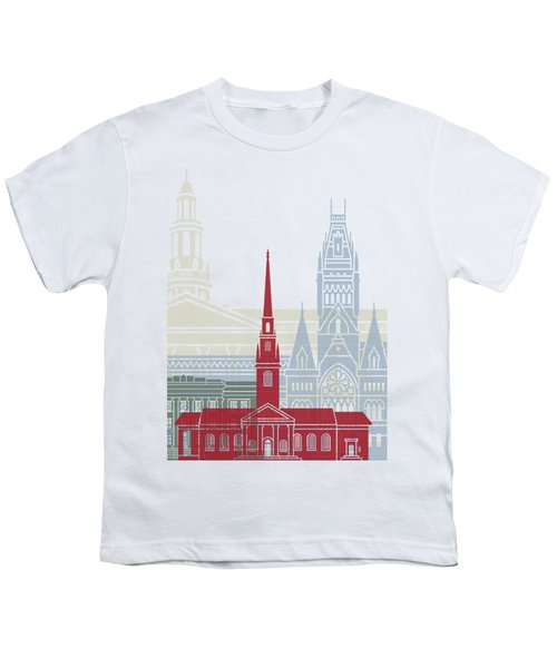 Harvard Skyline Poster Youth T-Shirt