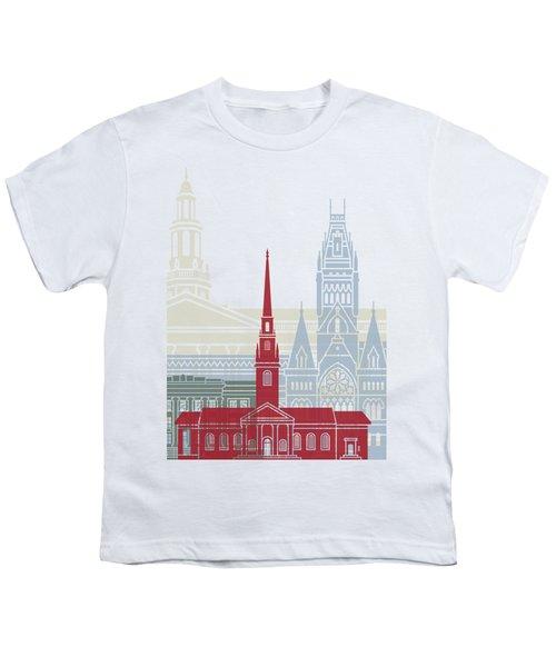 Harvard Skyline Poster Youth T-Shirt