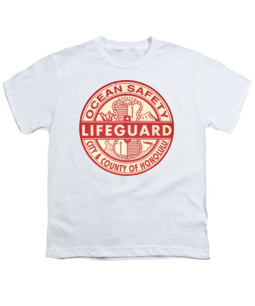 Hawaii Lifeguard Logo Youth T-Shirt by Mr Doomits