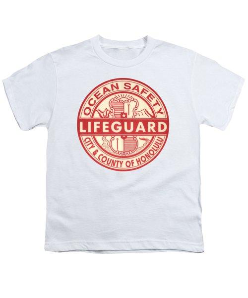 Hawaii Lifeguard Logo Youth T-Shirt