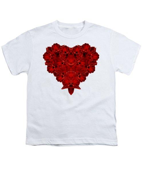 Heart Of Flowers T-shirt Youth T-Shirt by Edward Fielding