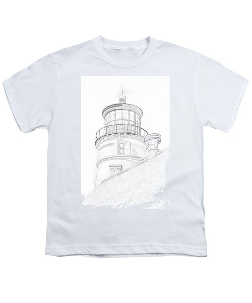 Hecitia Head Lighthouse Sketch Youth T-Shirt