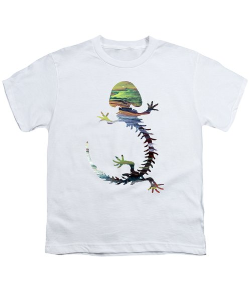 Hellbender Skeleton Youth T-Shirt by Mordax Furittus