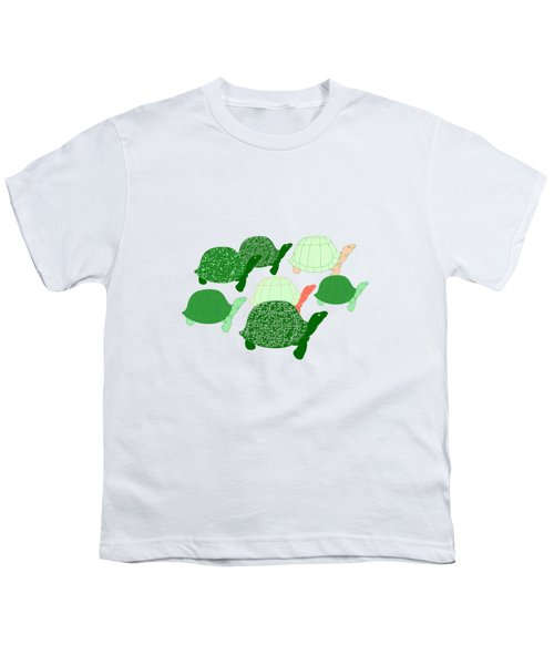Herd Of Turtles Pattern Youth T-Shirt by Methune Hively