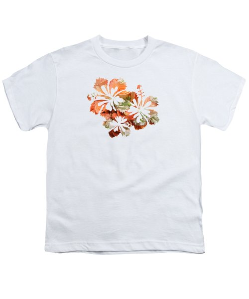 Hibiscus Flowers Youth T-Shirt by Art Spectrum