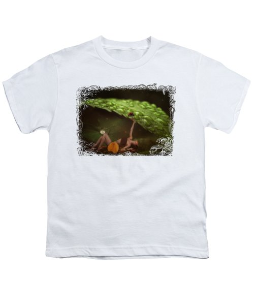 Hiding From The Storm Youth T-Shirt by Terry Fleckney