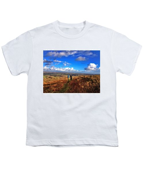 Hiking With College  #college #hike Youth T-Shirt