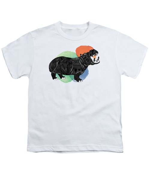 Hippo Youth T-Shirt by Serkes Panda