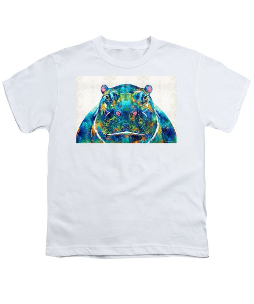 Hippopotamus Art - Happy Hippo - By Sharon Cummings Youth T-Shirt