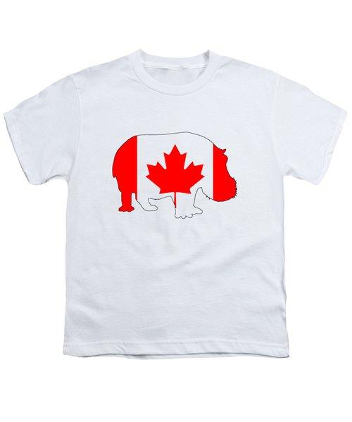 Hippopotamus Canada Youth T-Shirt by Mordax Furittus