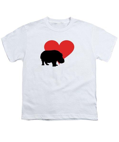 Hippopotamus Youth T-Shirt by Mordax Furittus
