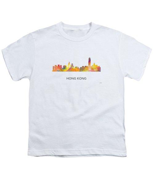 Hong Kong China Skyline Youth T-Shirt by Marlene Watson