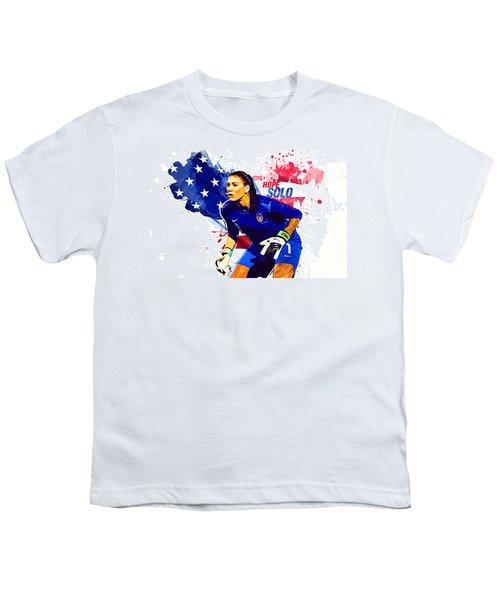 Hope Solo Youth T-Shirt by Semih Yurdabak