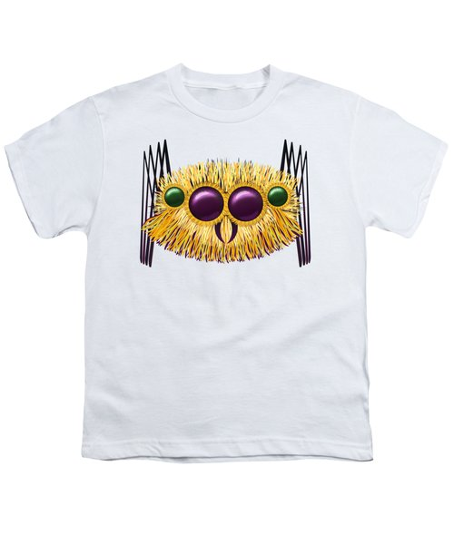 Huge Hairy Spider Youth T-Shirt by Michal Boubin