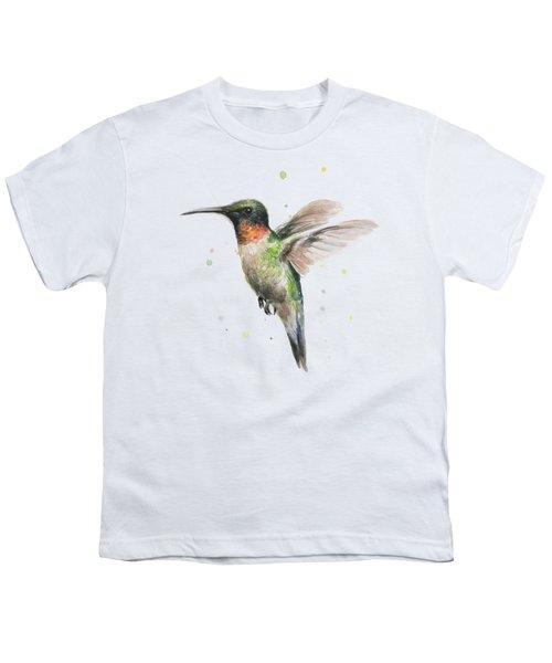 Hummingbird Youth T-Shirt by Olga Shvartsur