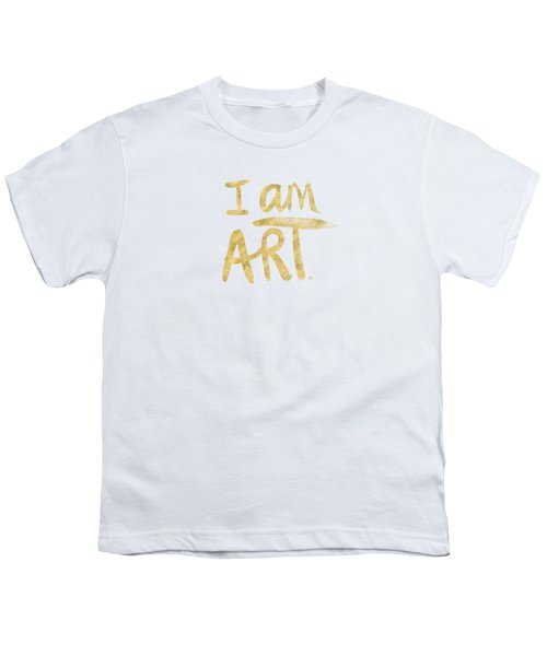 I Am Art Gold - Art By Linda Woods Youth T-Shirt by Linda Woods