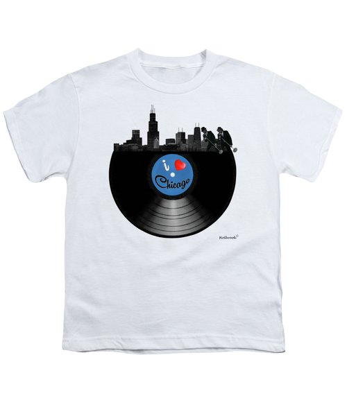I Love Chicago Youth T-Shirt by Glenn Holbrook