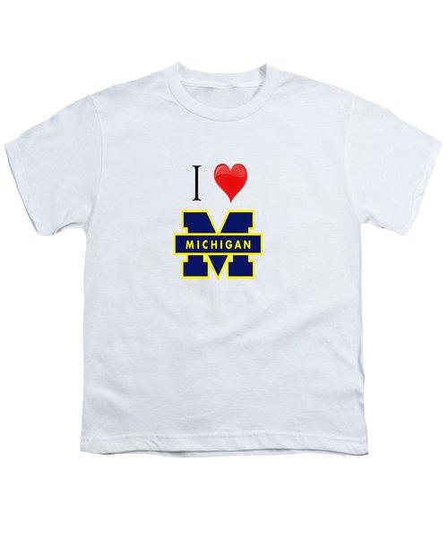 I Love Michigan Youth T-Shirt