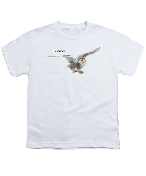 I Love Snowy Owls T-shirt Youth T-Shirt