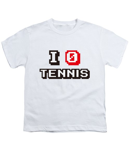 I Love Tennis Youth T-Shirt