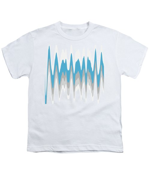 Ice Blue Abstract Youth T-Shirt by Christina Rollo