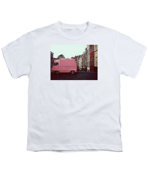 Ice Cream Car Youth T-Shirt by Myrthe V