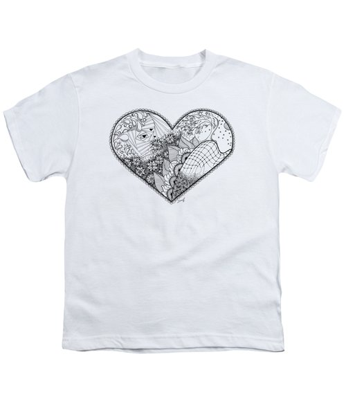 Youth T-Shirt featuring the drawing In Motion by Ana V Ramirez