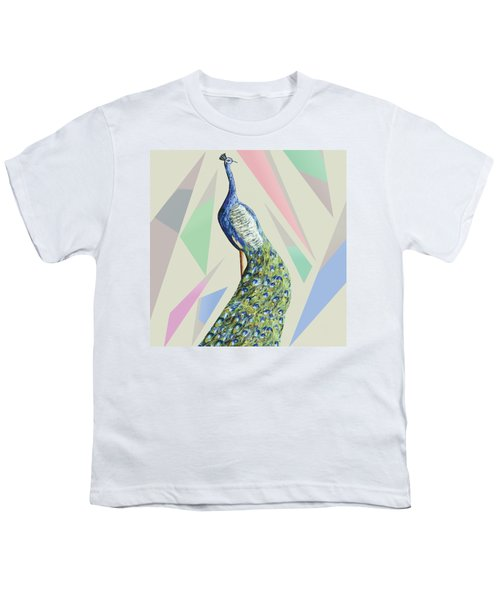 In The Month Of June The Peacock Danced A Youth T-Shirt by Thecla Correya