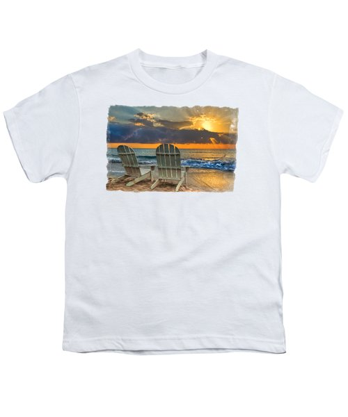 In The Spotlight Bordered Youth T-Shirt by Debra and Dave Vanderlaan