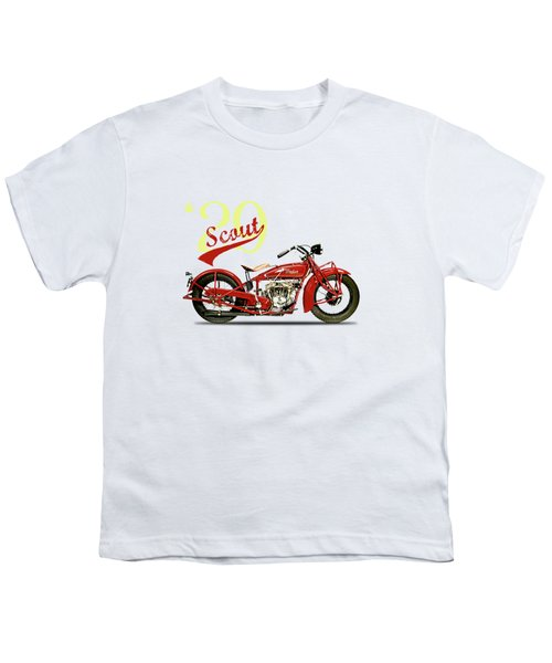 Indian Scout 101 1929 Youth T-Shirt by Mark Rogan