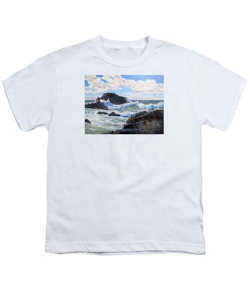 Youth T-Shirt featuring the painting Indomitable Rock by Lawrence Dyer