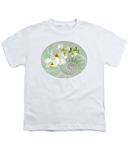 Intimate Fusion In Cool Green Youth T-Shirt by Gill Billington