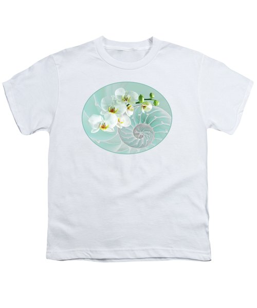 Intimate Fusion In Turquoise Youth T-Shirt by Gill Billington