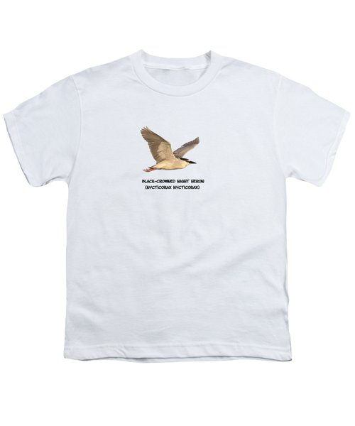 Isolated Black-crowned Night Heron 2017-6 Youth T-Shirt