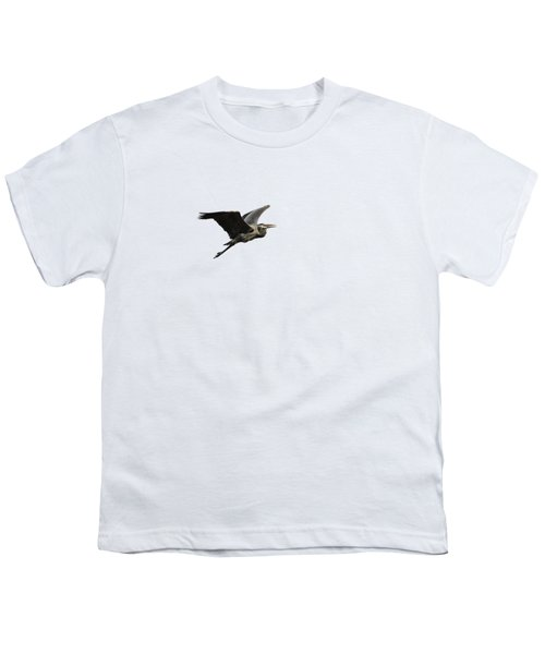 Isolated Great Blue Heron 2015-3 Youth T-Shirt by Thomas Young
