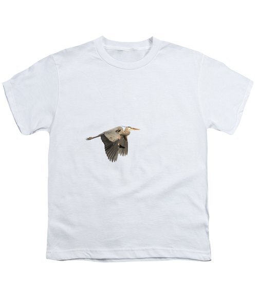 Isolated Great Blue Heron 2015-5 Youth T-Shirt by Thomas Young