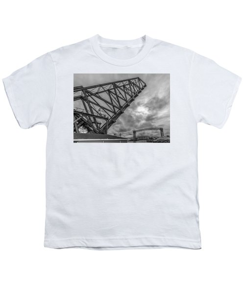 Jackknife Bridge To The Clouds B And W Youth T-Shirt