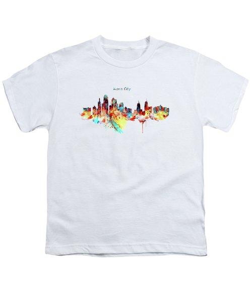 Kansas City Skyline Silhouette Youth T-Shirt