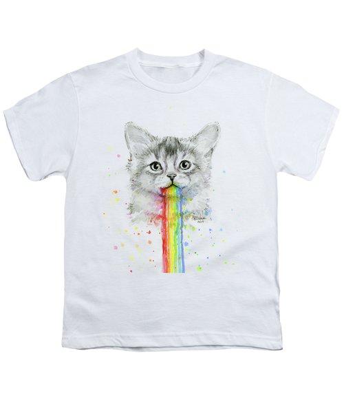 Kitten Puking Rainbows Youth T-Shirt